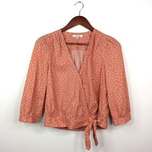 Madewell Star Scatter Wrap Shirt Top